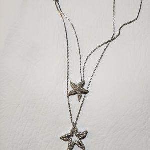 SWAROVSKI crystal sea stars necklace